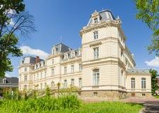 Potocki宫殿南门面在利沃夫州,乌克兰 免版税库存照片
