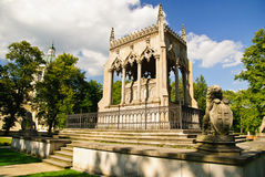 Potocki陵墓在公园- Wilanow宫殿区,华沙 库存照片
