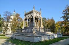Potocki陵墓在Wilanow (华沙,波兰) 图库摄影