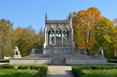Potocki陵墓在Wilanow (华沙,波兰) 库存照片
