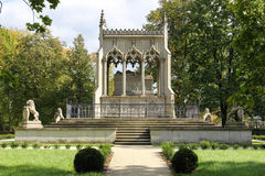 Potocki Mausoleum. Wilanow Park. Warsaw. Poland Royalty Free Stock Photo
