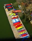 Potomac de Pijler van de Kajak van de Rivier Stock Afbeeldingen