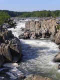 The Potomac and Great Falls. A sight to see in the DC area, Great Falls National Park and the Potomac River.  A very scenic area Stock Photos