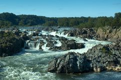Potomac River. Great Falls, VA (View from the belvedere #3 on the Virginia side Stock Photography
