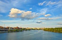 Potomac river. Clouds over Potomac river, Washington DC Stock Photos