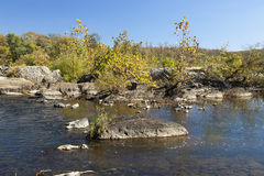 Potomac River in the Autumn Stock Photo