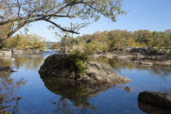 Potomac River in the Autumn Royalty Free Stock Photos