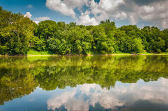 The Potomac River, at Balls Bluff Battlefield Park in Leesburg, Stock Photography