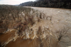Potomac River Flood, March 2010 Royalty Free Stock Images