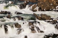 Potomac River in Great Falls Virginia Blurred Motion Stock Image