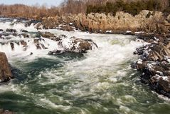 Potomac River in Great Falls Virginia USA Stock Photo