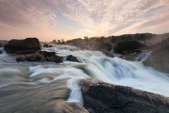 Potomac River Great Falls Waterfall at Sunrise Royalty Free Stock Images