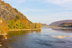 Potomac River in Harpers Ferry National park, West Virginia, USA. Royalty Free Stock Photos