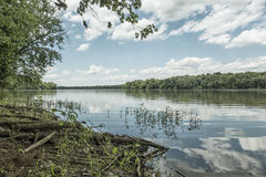 Potomac River. The historic Potomac river on a sunny summer day Stock Photo