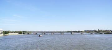Potomac River i Washington DC - WASHINGTON, DISTRICT OF COLUMBIA - APRIL 8, 2017 Arkivfoto