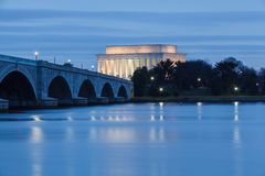 Potomac River Lincoln Memorial Washington DC Stock Photo