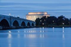 Potomac River Lincoln Memorial Washington DC Stock Photo