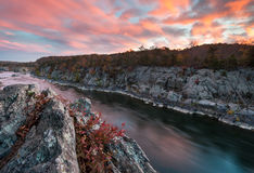 Potomac River Mather Gorge Great Falls National Park Royalty Free Stock Images