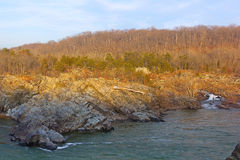 Potomac River near Washington DC, USA. Great Falls National Park in Virginia and Maryland, USA Royalty Free Stock Photos