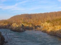 Potomac River near Washington DC, USA. Great Falls National Park in Virginia and Maryland, USA Stock Photo