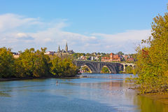 Potomac River water sport activities on a sunny afternoon in fall. Royalty Free Stock Image