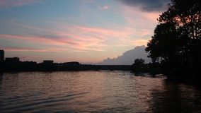 Potomac sunset Royalty Free Stock Photography