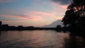 Potomac sunset. Sunset over the potomac river in Washington Royalty Free Stock Photography