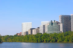 Potomac waterfront from Georgetown Park. Stock Photo