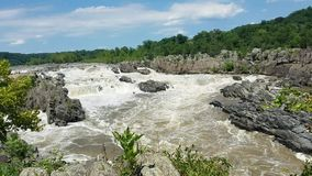 Potomacet River p? Great Falls lager videofilmer