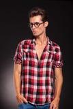 Potomstw mody mężczyzna target338_0_ jego strona Zdjęcie Royalty Free