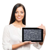 Potomstw, ufnego, pomyślnego i pięknego bizneswoman, Fotografia Stock