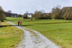 Potomstwa dobierają się bieg na słonecznym dniu w jesieni Zdjęcia Stock