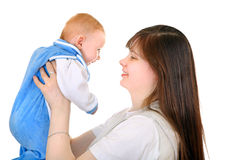 Potomstwa matka i dziecko Fotografia Royalty Free