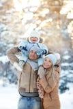 Potomstwa matka i ojciec z dzieckiem Zdjęcie Royalty Free