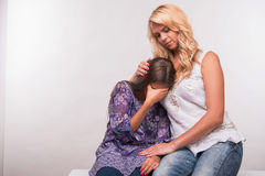 Potomstwa matki i nastolatek córka Zdjęcia Stock