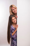 Potomstwa matki i nastolatek córka Obraz Royalty Free