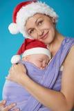 Potomstwa matkują z jej słodkim dzieckiem zdjęcie royalty free