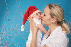 Potomstwa matkują z jej słodkim dzieckiem zdjęcia royalty free