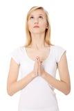 potomstwa modlenia kobiety potomstwa fotografia royalty free