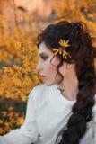 Potomstwa, piękna dziewczyna w koszula nocnej Obrazy Royalty Free