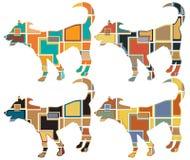 Potomstwa są prześladowanym mozaiki Obrazy Royalty Free