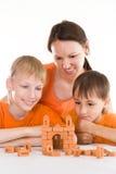 Potomstwo matka i dwa syna fotografia stock