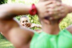 Potomstwo para jogging w parku Obraz Stock