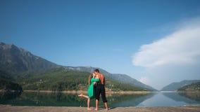 Potomstwo para na wakacje w Alanya Obrazy Royalty Free