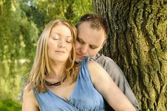 Potomstwo para w miłości obraz royalty free