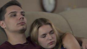 Potomstwo para w sypialni zbiory