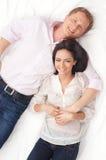 potomstwo pary uroczy biały potomstwa Zdjęcie Stock