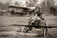 Potomstwo pilot fotografia royalty free