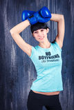 Potomstwo sportów dziewczyna z ciemnym włosy Zdjęcia Royalty Free