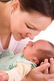 Potomstwo szczęśliwa matka zdjęcie royalty free